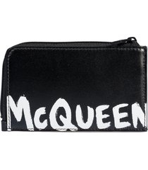 alexander mcqueen large zip coin card holder