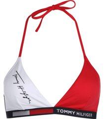 tommy hilfiger dames bikini top triangle - rood/wit