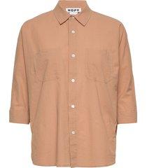 way shirt långärmad skjorta beige hope