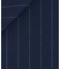 pantaloni da uomo su misura, vitale barberis canonico, icon gessato blu, quattro stagioni | lanieri