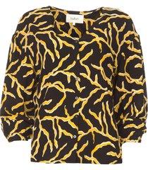 blouse met print clea  zwart