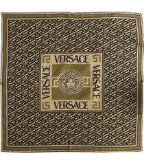 versace the medusa silk scarf