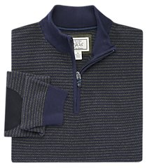 1905 collection cotton quarter-zip striped men's sweater clearance