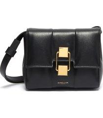 'mini alexandria' padded soft leather crossbody bag