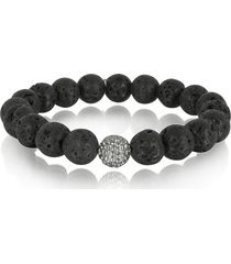 blackbourne designer men's bracelets, lava stone men's bracelet w/brass golf ball