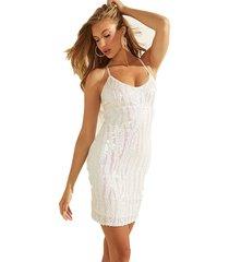 vestido sl janelle dress blanco guess