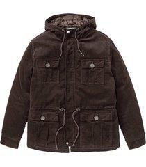 giacca invernale in velluto (marrone) - john baner jeanswear