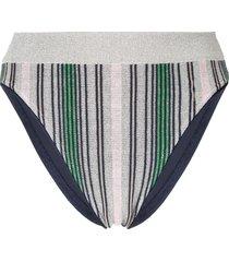 suboo elvira knit stripe bikini bottom - multicolour