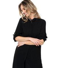 blusa negra odas fibrana larga