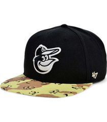'47 brand baltimore orioles operation camo snapback cap