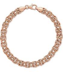 byzantine link bracelet in 10k rose gold