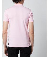 polo ralph lauren men's stretch mesh slim fit polo shirt - carmel pink - l