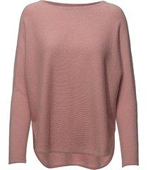 curved sweater gebreide trui roze davida cashmere