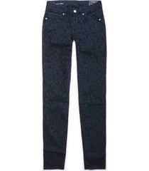 pantalón color siete para mujer - azul