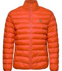 packable puffer jacket gevoerd jack oranje lyle & scott