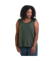 regata feminina plus size viscose lisa 41220