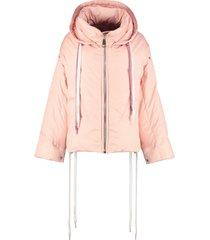 khrisjoy khris hooded oversize down jacket