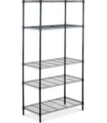 alpha 5-tier chrome wire shelving