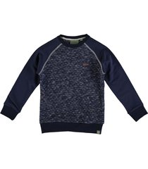 indian blue blauwe quilted sweater
