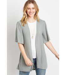 maurices womens olive crochet back cardigan green