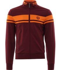damarindo track top - burgundy and orange 36052-656