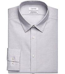 calvin klein infinite greystone check slim fit dress shirt