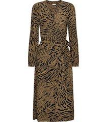 fqsabney-dr knälång klänning brun free/quent