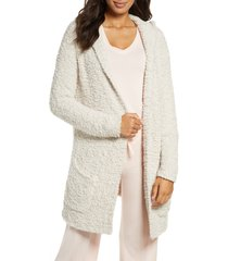 women's barefoot dreams boucle knit hooded cardigan