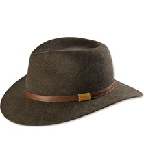 heathered-felt hat, brown, 2xl