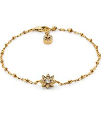 gucci flora diamond & 18k gold bracelet, size 6.5 in in yellow gold at nordstrom
