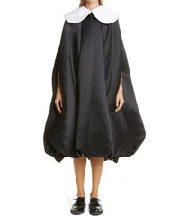 women's comme des garcons black x white satin dress