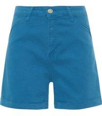 short feminino barra italiana - azul