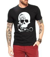 camiseta criativa urbana caveira decorada