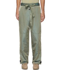 drawstring waist velcro hem iridescent nylon blend pants