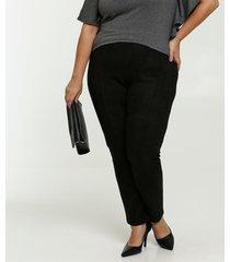 calça feminina legging suede plus size marisa