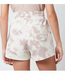 varley women's glade shorts - taupe tie dye - m