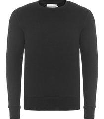 blusa masculina moletom logo faixa mangas - preto