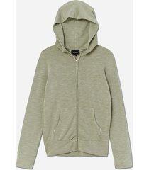monrow zip up hoodie