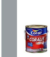 esmalte sintético brilhante coralit cinza médio 3,6l - coral - coral