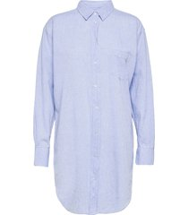 linen lux donja dresses shirt dresses blå mads nørgaard