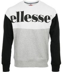 sweater ellesse eh h sweat col rond bicolore
