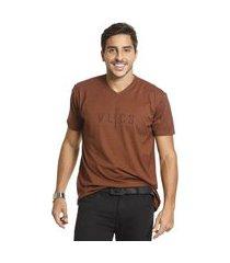 camiseta vlcs trends gola v marrom