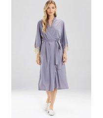 natori luxe shangri-la robe, women's, grey, size xs natori