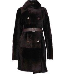 jackie sheared lamb reversible coat