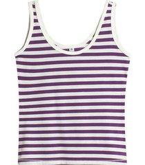 camiseta esqueleto a rayas color morado, talla 6
