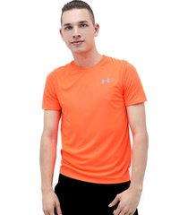 camiseta naranja under armour speed stride shortsleeve