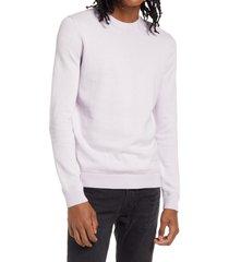 men's topman essential twist crewneck sweater, size large - purple