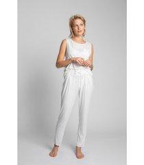 pyjama's / nachthemden lalupa la025 viscose pyjamabroek - ecru