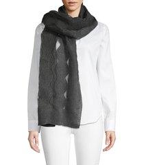 saachi women's sheer patterned scarf - grey