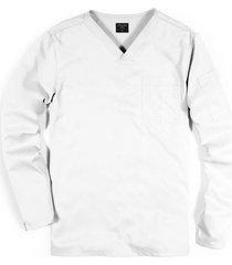 scrub camiseta manga larga premium - blanco